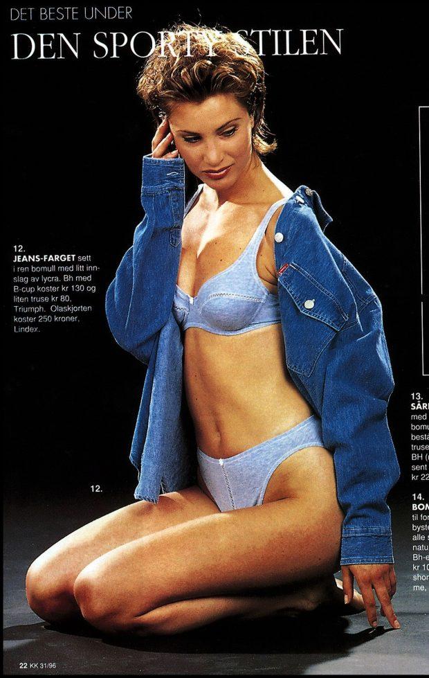 Catálogo de moda de la revista 'KK', protagonizado por Eva Sannum, noviembre de 1999