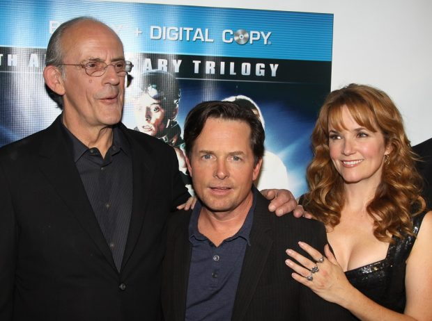 Christopher Lloyd, Michael J. Fox y Lea Thompson, los protagonistas de 'Regreso al futuro' en 2010