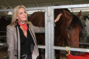 en la feria de caballos de Sevilla, en 2012