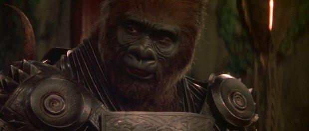 Michael Clarke Duncan como el gorila Attar en 'El planeta de los simios' (2001)., de Tim Burton