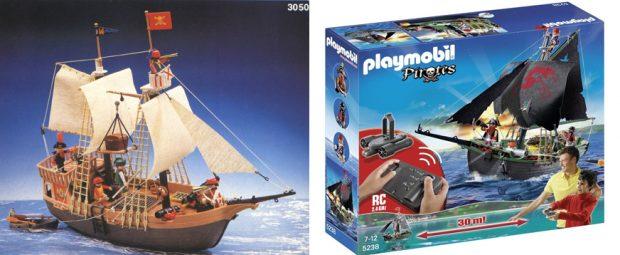 Barco pirata de 'Playmobil, antes y después