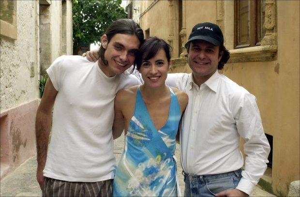 Ricardo Bofill, Ana Turpin y Daniel González en el rodaje de 'Hot milk', dirigida por Bofill, en junio de 2004.