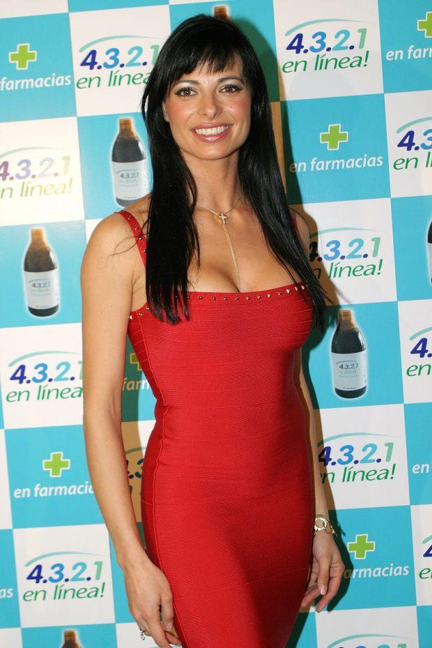 Natalia Estrada en un evento comercial en enero de 2005, en Madrid