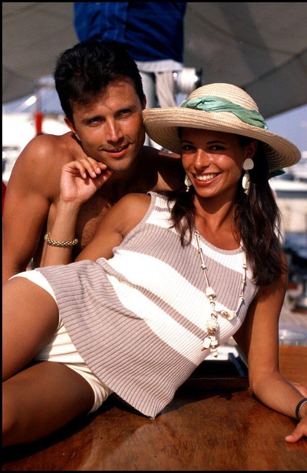 Natalia Estrada y su primer marido, Giorgio Mastrotta, dos estrellas de la televisión