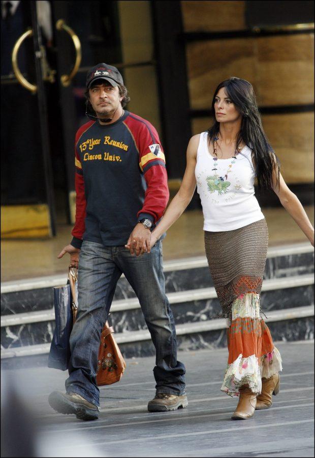 Natalia Estrada y Andrea Mishianti en una visita a Madrid en mayo de 2006.