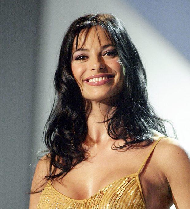 La presentadora Natalia Estrada en la Gala Miss España 2001.