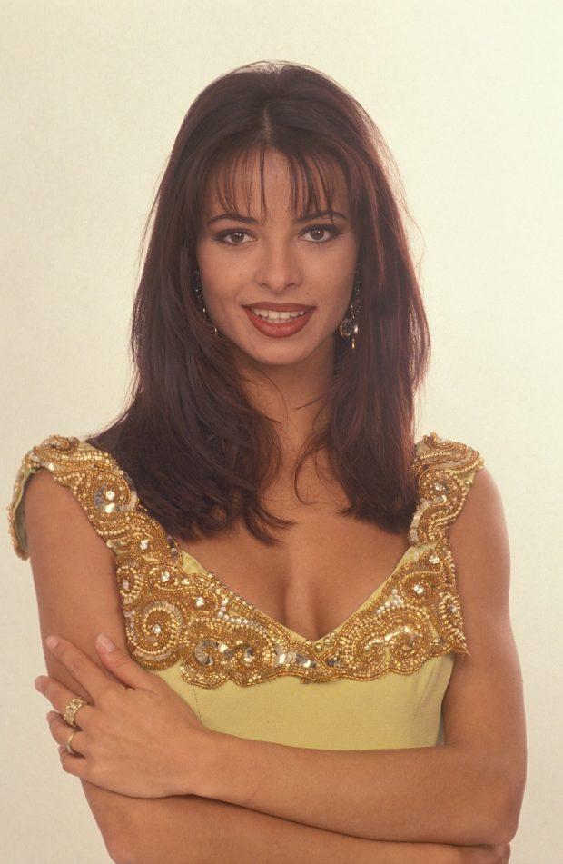 Natalia Estrada En sus comienzos televisivos en los 1990.