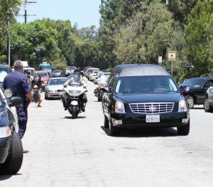 Procesión fúnebre de Sage Stallone, hijo de Sylvester Stallone