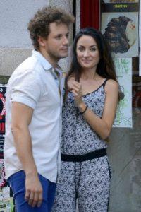 Daniel Diges y su mujer Alejandra Ortiz Echague en 2013.