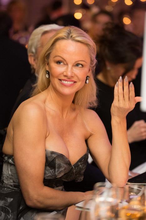 Pamela Anderson en París en enero de 2017