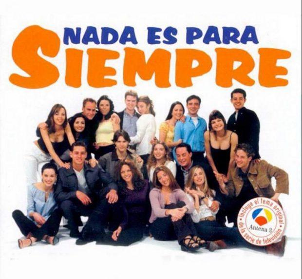 Cartel de la serie adolescente Nada es para siempre, de Antena 3.