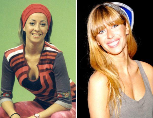 Combo de antes y después de Lorena Voces de Nada es para siempre