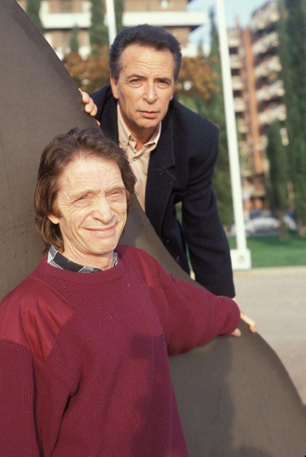 Manuel García Lozano (Manolo) y Francisco García Lozano (Paco), más conocidos como los hermanos Calatrava, en un posado de los años 70.