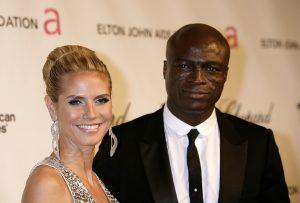 Seal y su entonces mujer, la modelo Heidi Klum, en una fiesta de los Oscar en 2008.