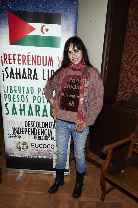 Beatriz Rico en un evento de las organizaciones Ceas-Sahara y Fisahara a favor de la autodeterminación de los saharawis, en Madrid el 15 de octubre de 2015.