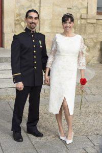 Beatriz Rico en su boda con Rubén Ramírez en Guadalix de la Sierra (Madrid).