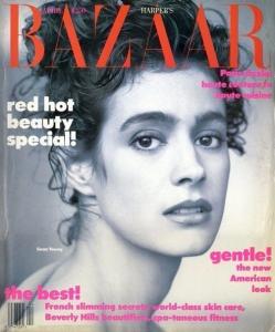 Otra portada de Sean Young de 'Harper's Bazaar' en los años 80.