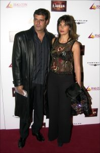 Andoni Ferreño y Paula Sereno en el estreno del musical Queen We Will Rock You en Madrid, en 2003