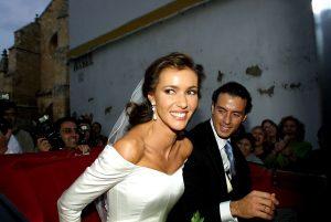 Boda del diestro Finito de Córdoba y la presentadora Arancha del Sol en noviembre de 2001.