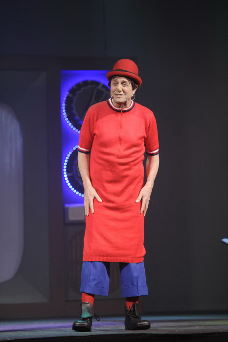 Rody Aragón en el musical ¿Cómo están ustedes?' en febrero de 2013.