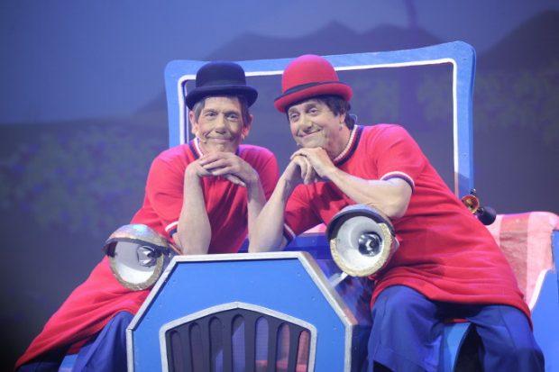 Fofito y Rody en el musical 'Los payasos de la tele'.