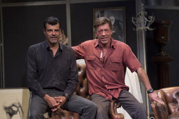 Ramón Langa y Andoni Ferreño en la presentación de la obra 'Hay que deshacer la casa', en agosto de 2014 en Madrid.