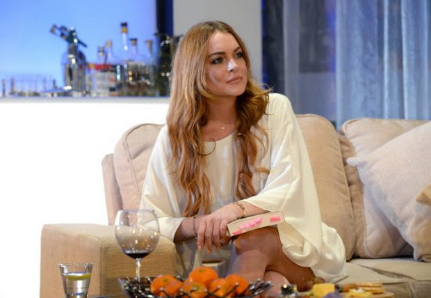 """Lindsay Lohan en la obra """" Speed The Plow"""" en Londres, en 2014."""