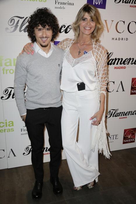 La presentadora Arantxa de Benito y Agustín Etienne durante la Gala Flamenco solidario 2016 en Madrid en abril de 2016.