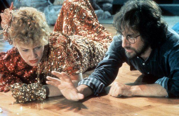 Kate Capshaw y Steven Spielberg en el rodaje de 'Indiana Jones y el Templo Maldito'.