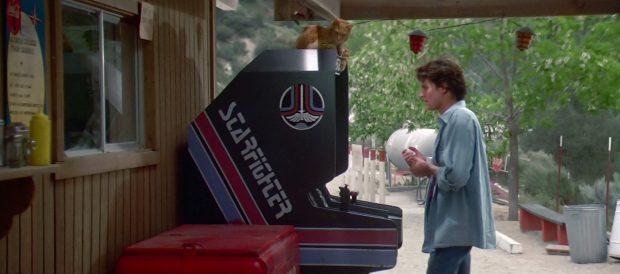 Alex Rogan (Lance West) no sabe lo que en realidad hay detrás de ese juego de arcade... Starfighter