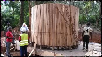 Construcción del depósito de agua