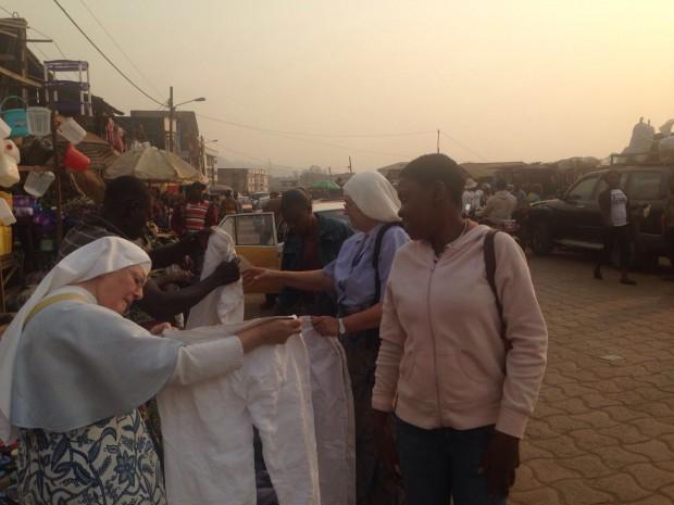 En el mercado de Bamenda