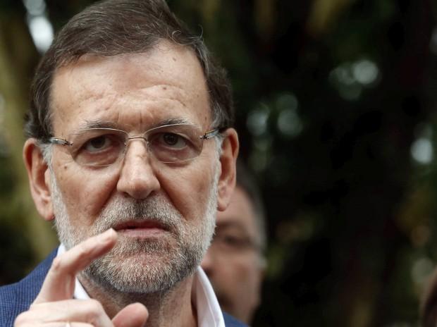 El presidente del Gobierno, Mariano Rajoy, en Cangas de Onís este miércoles. (EFE/José Luis Cereijido)