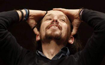 (JAVIER LIZÓN / EFE) Pablo Iglesias, durante el acto de la Universidad Complutense en el que le plantó la prensa.