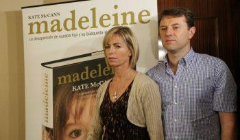 Kate y Guerry McCann, en la presentación en Madrid del libro 'Madeleine'. (Foto: Jorge París)