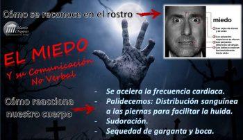 La expresión y la reacción corporal del miedo, recogida en martinovejero.com