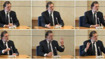 Mariano Rajoy durante su comparecencia (EFE).