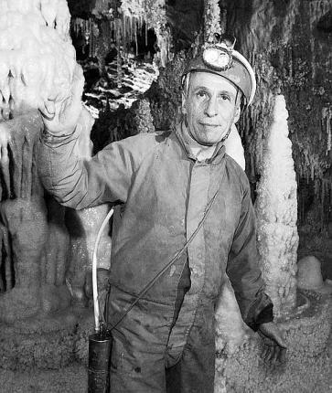Michel Siffre en los años 60 (primer experimento)