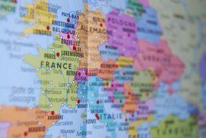 Francia en el mapa