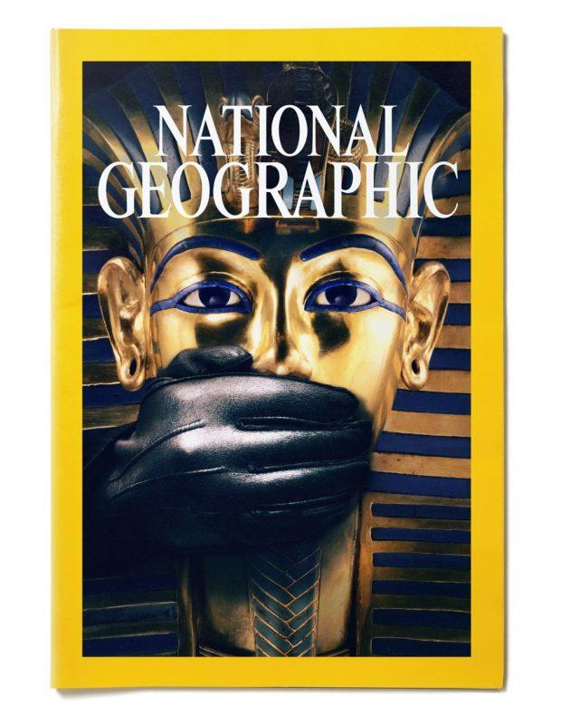 Portada diseño de Javier Jaén para la revista National Geographic