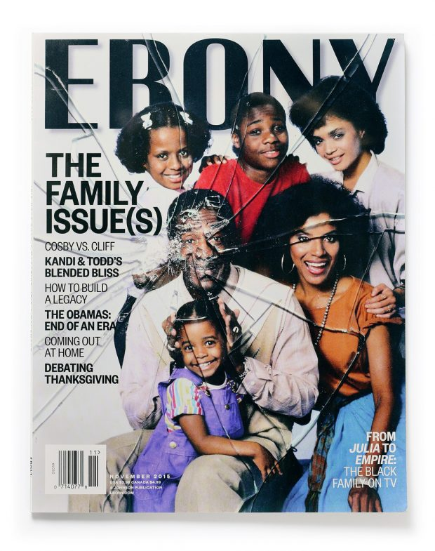 (Ebony Magazine Cover. The Family Issue(s) Cosby vs. Cliff. Estudio javierjaen.com)