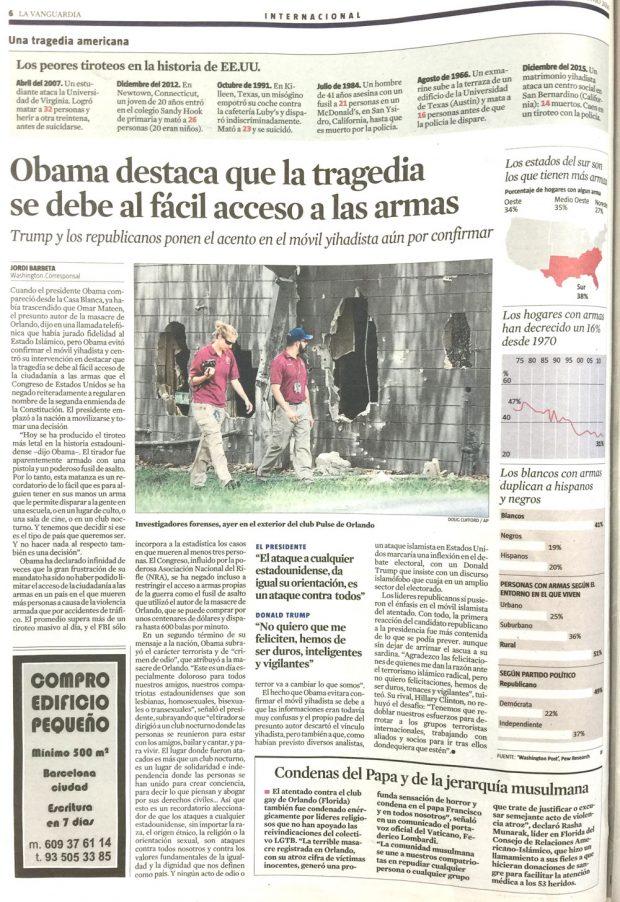 (Gráficos de contexto sobre el acceso a las armas en EEUU. La Vanguardia)