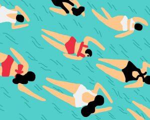 Nadadoras piscina