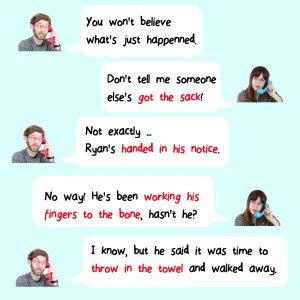 Cuatro expresiones en ingl s para el trabajo que debes for Expresiones cortas