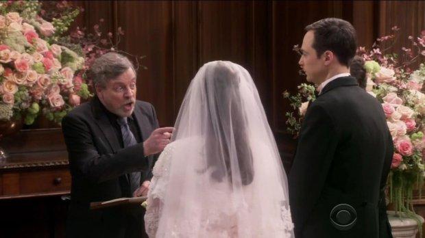 Luke Skywalker casó a Sheldon y Amy.