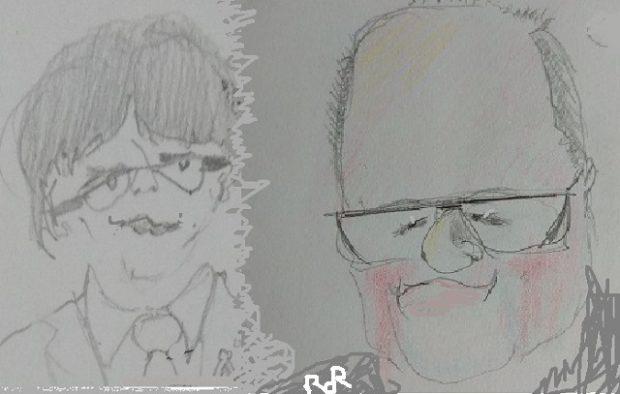 Puigdemont y Quim Torra, dibujados por Ror