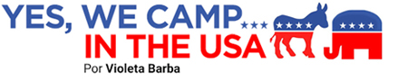 Yes, we camp… in the USA, por Violeta Barba