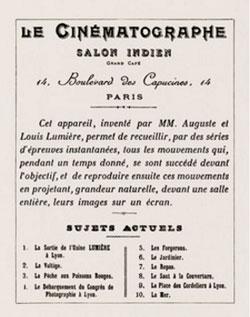 primera proyección lumiere 1895