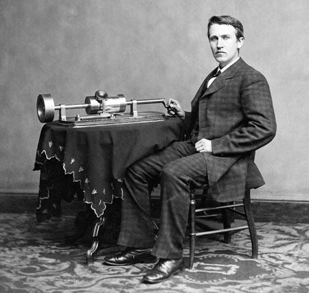Thomas Alva Edison fonografo