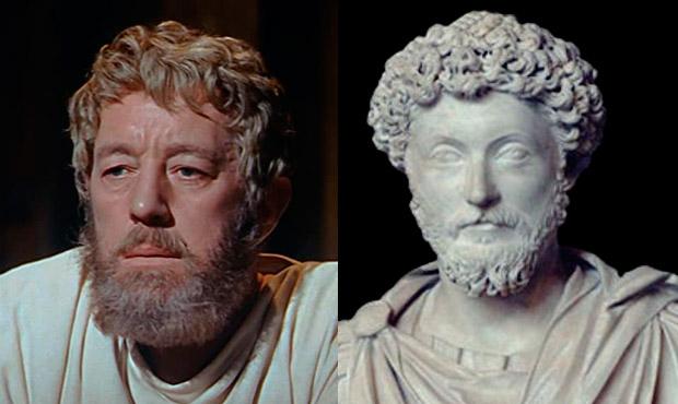Alec Guinness el emperador Marco Aurelio